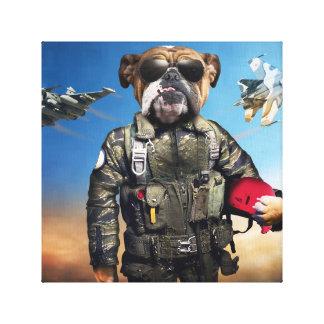 Pilot dog,funny bulldog,bulldog canvas print