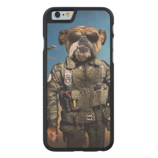 Pilot dog,funny bulldog,bulldog carved® maple iPhone 6 case