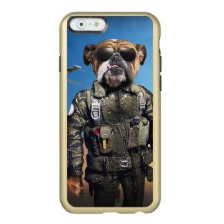 Pilot dog,funny bulldog,bulldog incipio feather® shine iPhone 6 case
