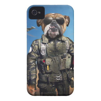Pilot dog,funny bulldog,bulldog iPhone 4 case
