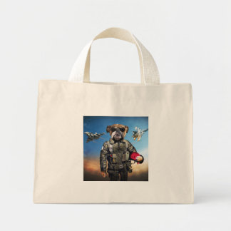 Pilot dog,funny bulldog,bulldog mini tote bag