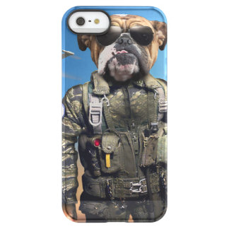 Pilot dog,funny bulldog,bulldog permafrost® iPhone SE/5/5s case