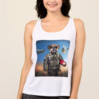 Pilot dog,funny bulldog,bulldog singlet