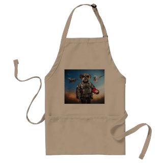 Pilot dog,funny bulldog,bulldog standard apron