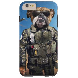 Pilot dog,funny bulldog,bulldog tough iPhone 6 plus case