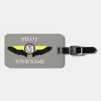 Pilot or airplane cabin crew luggage tag