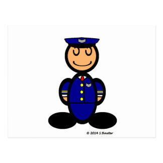 Pilot (plain) postcard