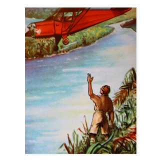 Pilot Waving Postcard