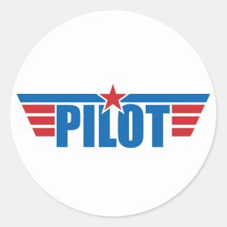 Pilot Wings Badge - Aviation Classic Round Sticker