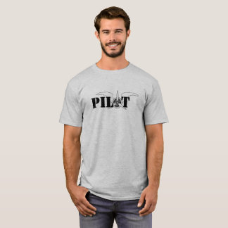 Pilot Wings With Propeller Aviation Themed T-Shirt