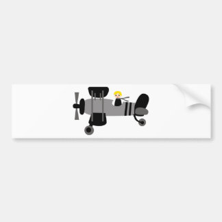 PilotBlack3 Bumper Sticker