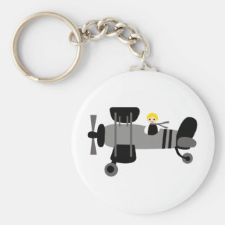 PilotBlack3 Basic Round Button Key Ring