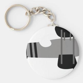 PilotBlack4 Basic Round Button Key Ring