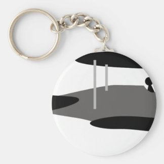 PilotBlack7 Basic Round Button Key Ring