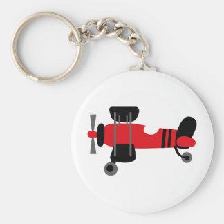 PilotRed1 Basic Round Button Key Ring