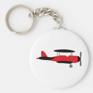 PilotRed3 Basic Round Button Key Ring