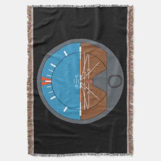 Pilot's Attitude Indicator Throw Blanket