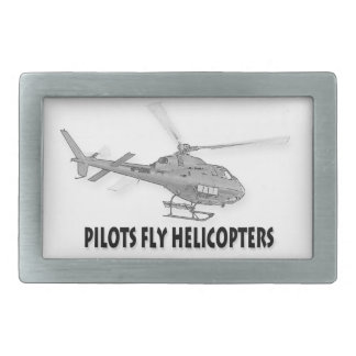 Pilots fly helicopters belt buckle