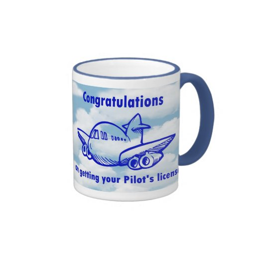 Pilots license. Getting your wings. Congratulation Mugs