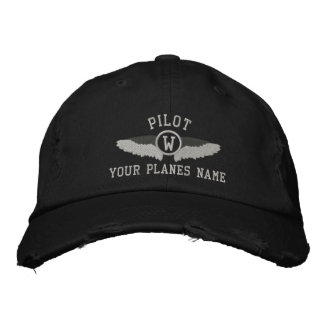 Pilots monogram and custom plane name embroidered cap