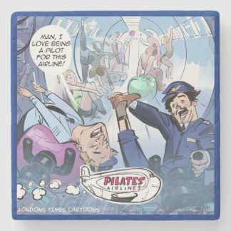 Pilots Pilates Airlines Funny Marble Stone Coaster