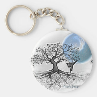 Pima Karate Basic Round Button Key Ring