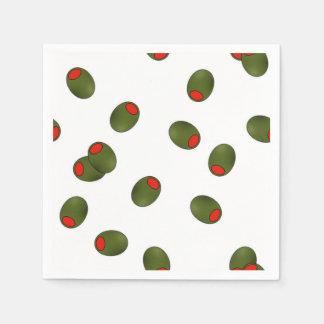 Pimento Olives Paper Napkins