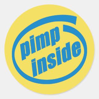 Pimp Inside 3 inch sticker (sheet of 6)
