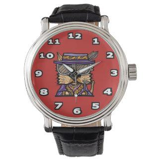 """""""Pimp Kat"""" Black Vintage Leather Watch"""
