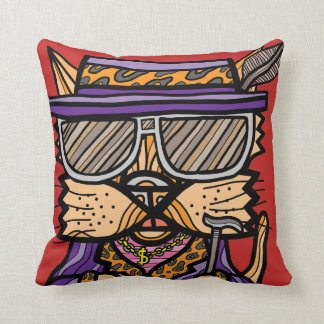 """Pimp Kat"" BuddaKats Throw Pillow"