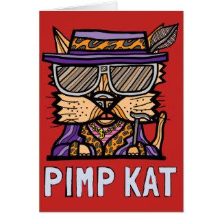 """""""Pimp Kat"""" Notecard"""