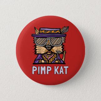 """""""Pimp Kat"""" Round Button"""