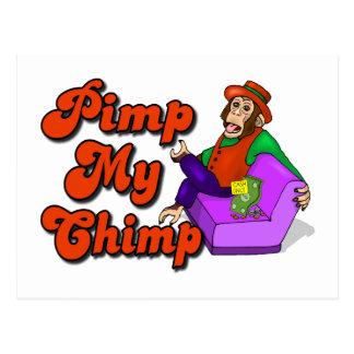 Pimp My Chimp Postcard