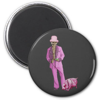 Pimp Obama and the Pig 6 Cm Round Magnet