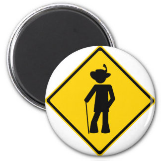 Pimp Road Sign Magnet