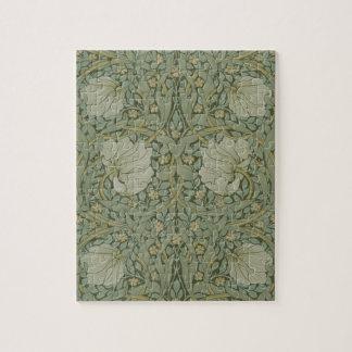 Pimpernel by William Morris Vintage Floral Textile Jigsaw Puzzle