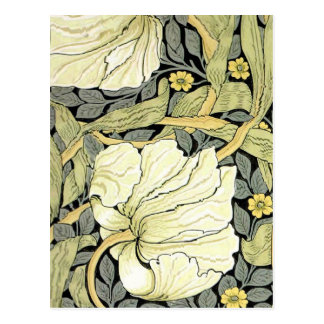 Pimpernel Yellow Green Floral Pattern Vintage Wall Post Card
