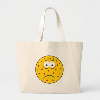 Pimple Zits Smiley Face Jumbo Tote Bag