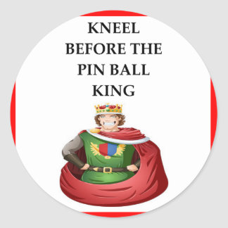 PIN BALL CLASSIC ROUND STICKER