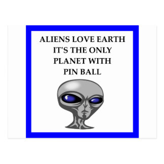 PIN BALL POSTCARD