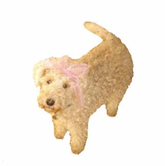 Pin Cute Lakeland Terrier Photo Sculpture Badge