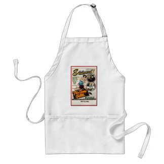 Pin Down Girl Vintage Lady Wrestlers Poster Adult Apron