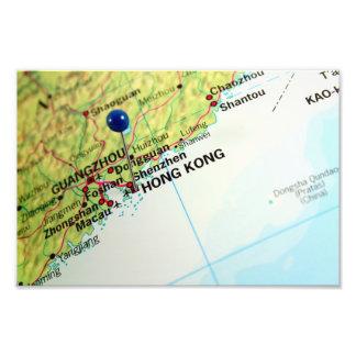 Pin Map of Hong Kong Photo Print