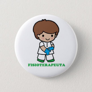 Pin of small physiotherapist