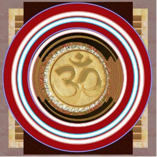 PIN OM MANTRA Spiritual Yoga Meditation Chant Photo Sculpture Badge