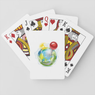 Pin On A Globe Playing Cards