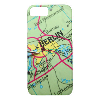 Pin placed on map in Berlin, Germany iPhone 7 Case