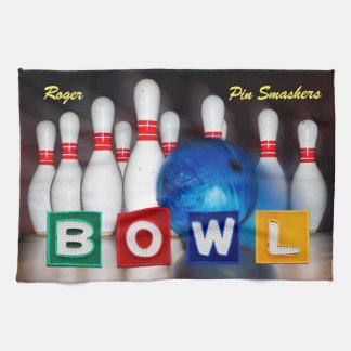 Pin Smashers Bowling Tea Towel
