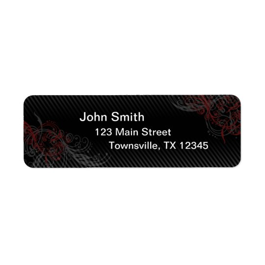 Pin Stripe Return Address Label