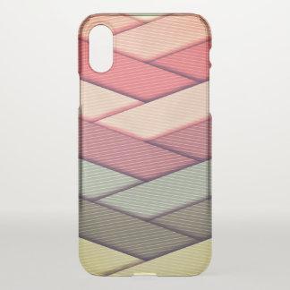Pin Striped Ribbon Pattern iPhone X Case